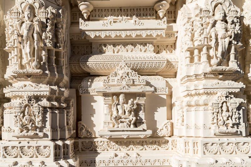 BAPS Shri Swaminarayan Mandir Чикаго стоковые изображения rf