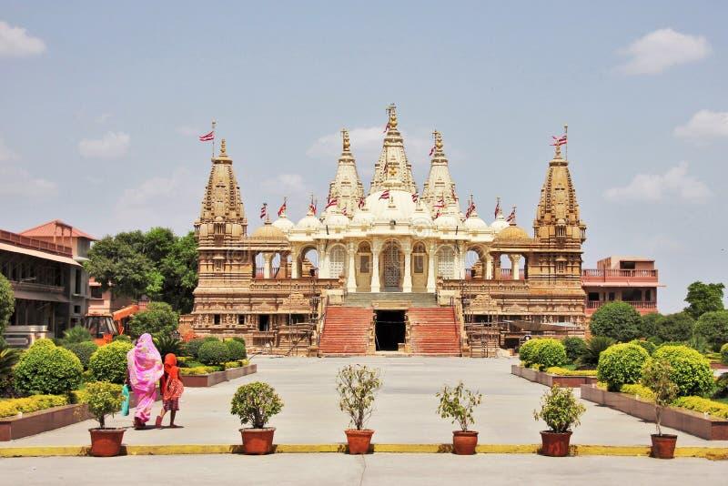 BAPS Swaminarayan świątynia @ Gondal obrazy royalty free