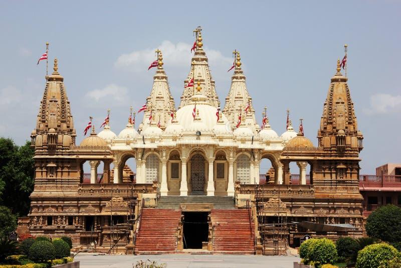 BAPS Swaminarayan świątynia @ Gondal zdjęcia stock