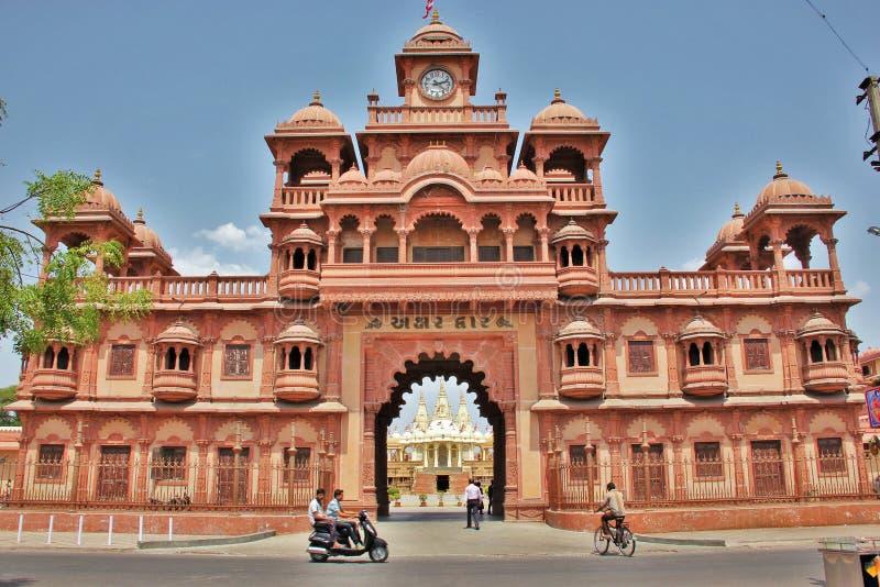 BAPS Swaminarayan świątynia @ Gondal obraz royalty free
