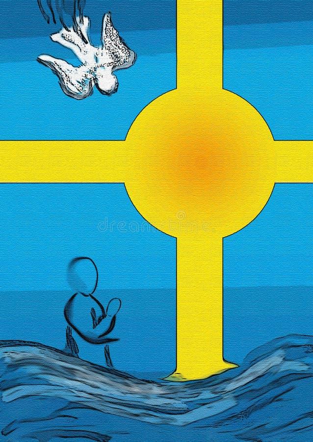 Baptême illustration libre de droits