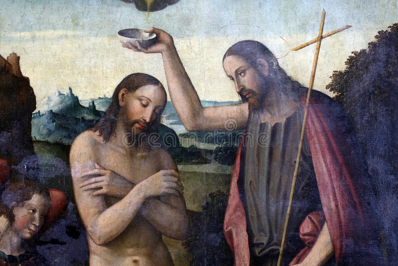 Baptême du Christ photographie stock