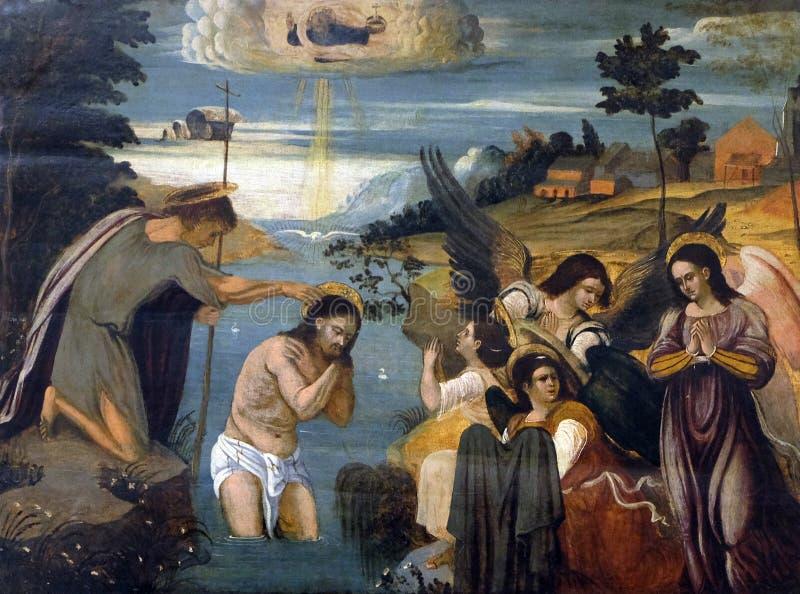 Baptême du Christ images stock