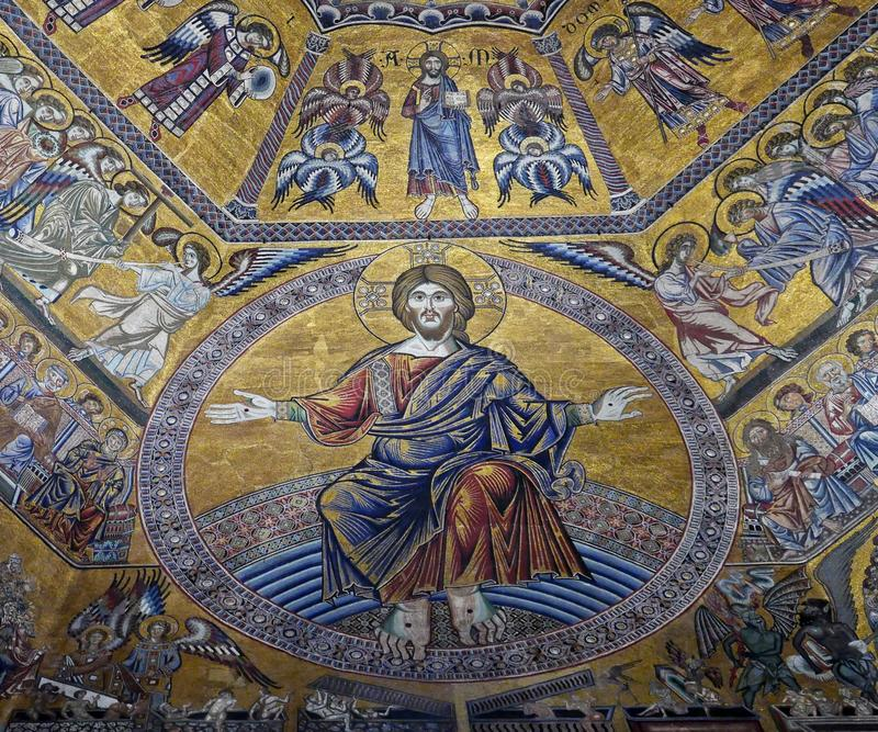Baptisery de mosaïque de St John images libres de droits