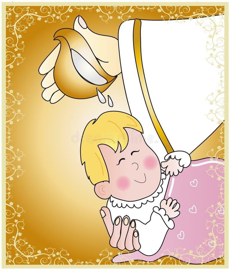 Baptism. Ticket invitation for the celebration of a baptism vector illustration
