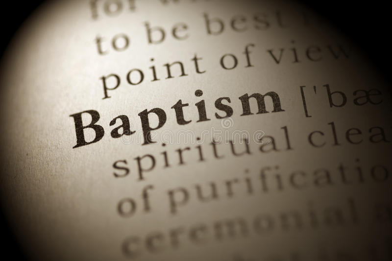 Baptism stock photography