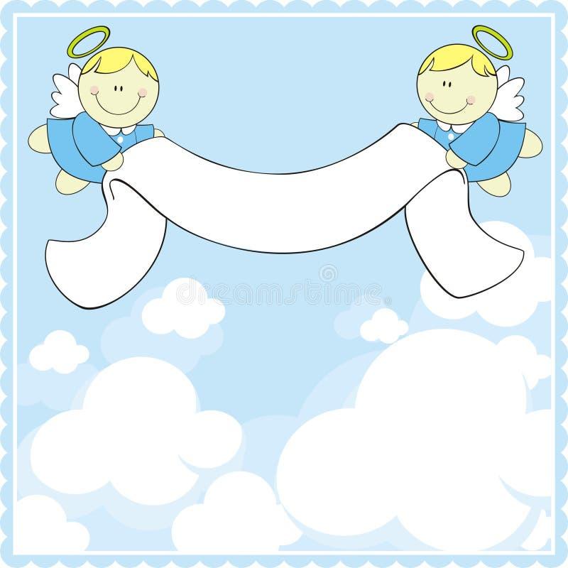 Baptism greeting card vector illustration