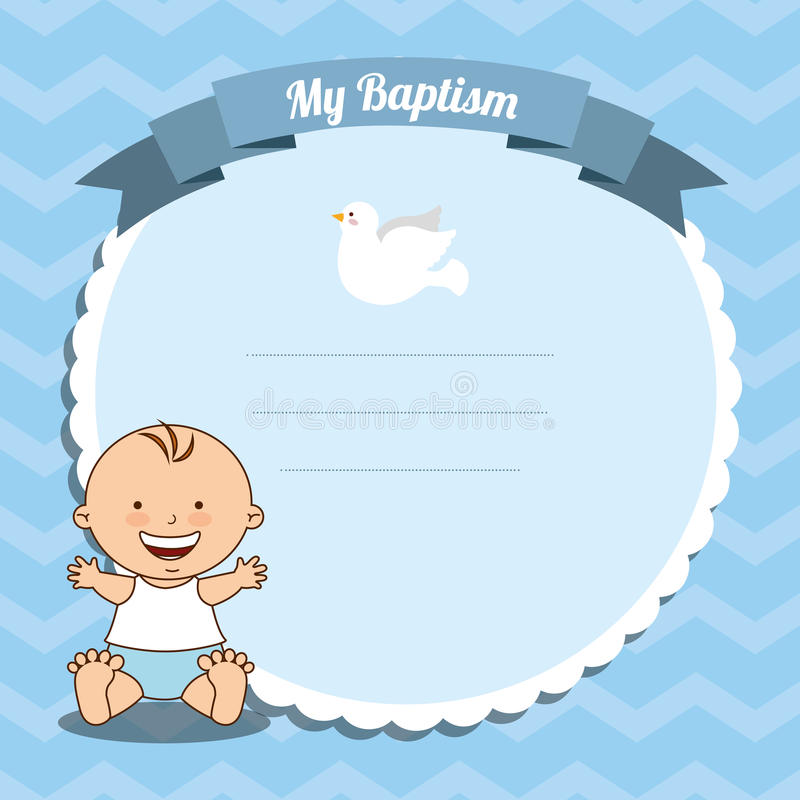 Baptism invitation design. Vector illustration eps10 graphic stock illustration
