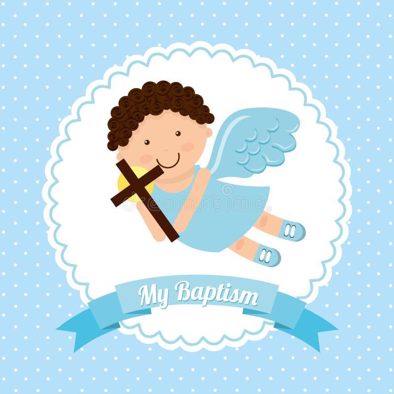 Baptism invitation design. Vector illustration eps10 graphic vector illustration