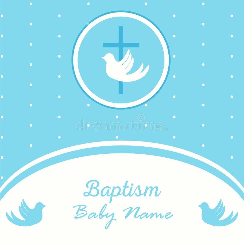 Baptism invitation template. Baptism invitation card template. Stock vector illustration for baby christening ceremony, communion or confirmation vector illustration