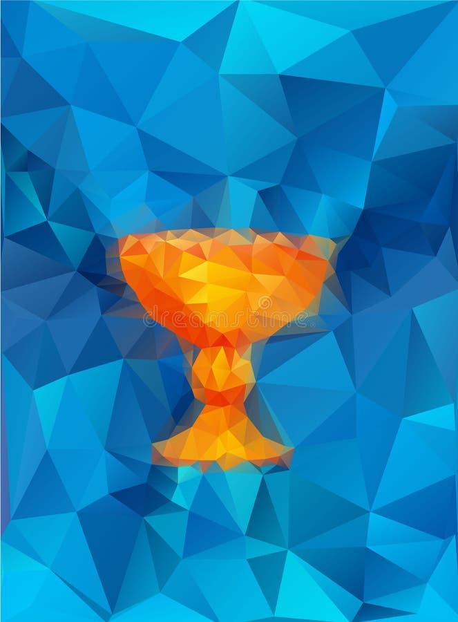 Baptism symbol. In triangular style vector illustration