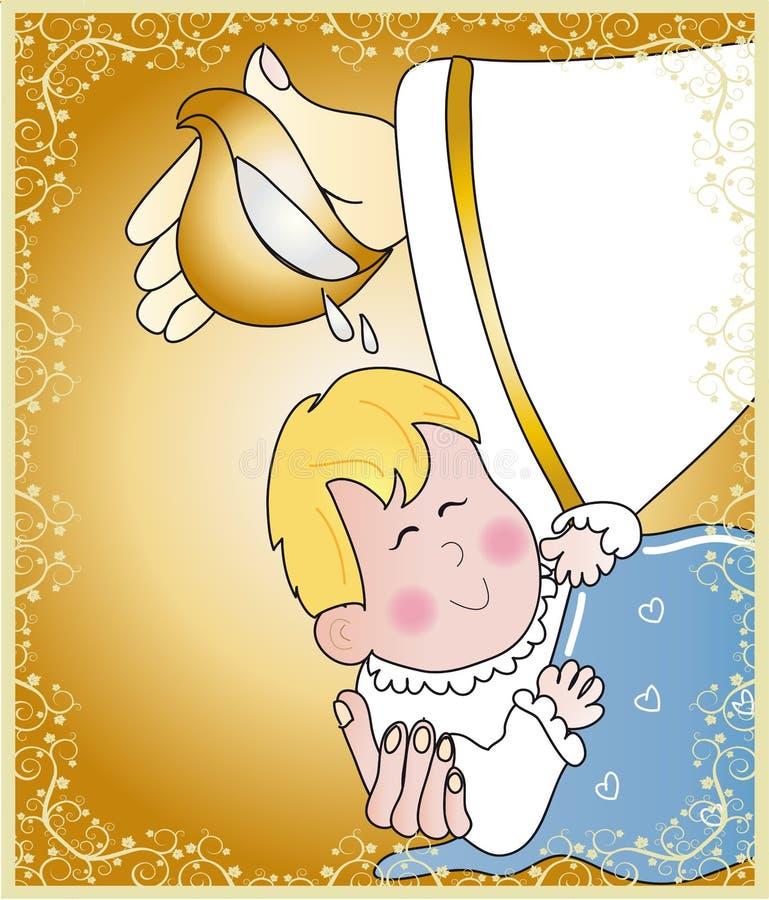 Baptismo ilustração royalty free