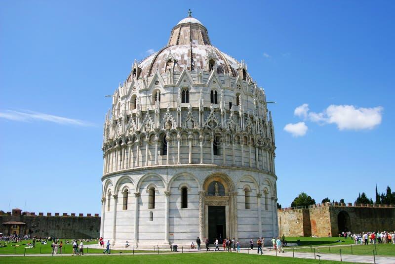 Baptistère de saint John à Pise, Italie image libre de droits