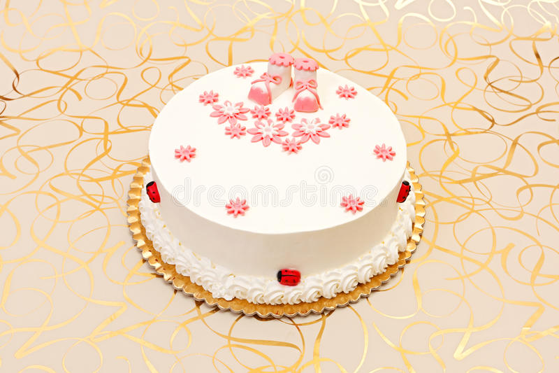 Download Baptist cake for girl stock image. Image of ornaments - 26282875