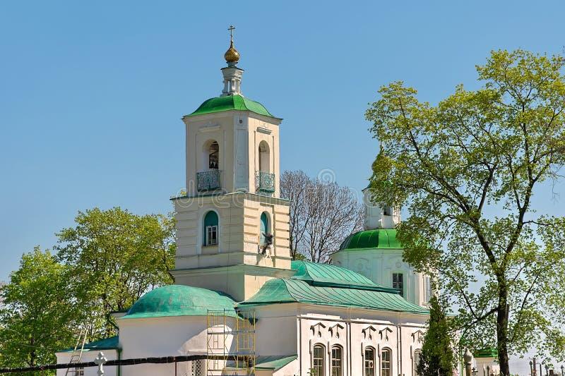 Baptist Church-begraafplaats.  Rusland, het gebied van Tula, stad Venev. royalty-vrije stock foto's