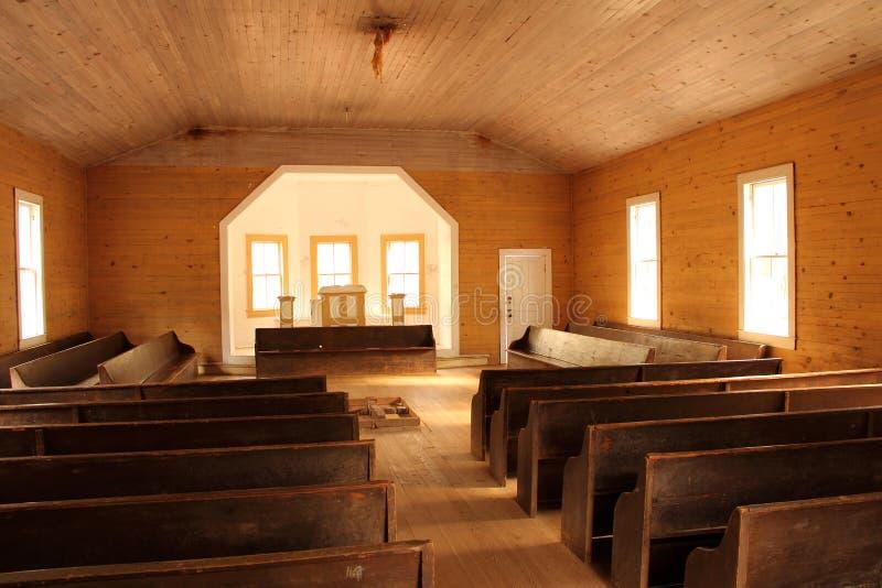 Baptist Church Interior imagem de stock