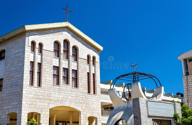 Baptist Church in Nazareth - Israël stock foto's