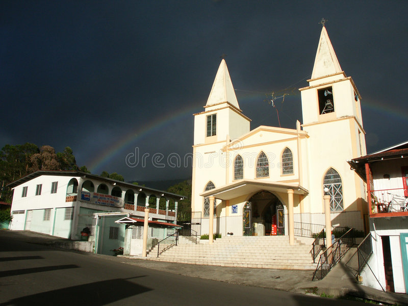 Download Baptist Church With Rainbow Stock Photo - Image of tarmac, christian: 35198