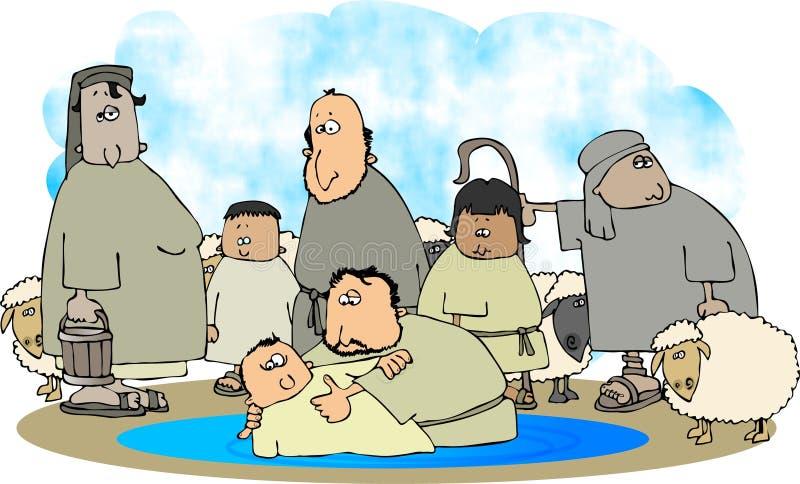 baptist john stock illustrationer