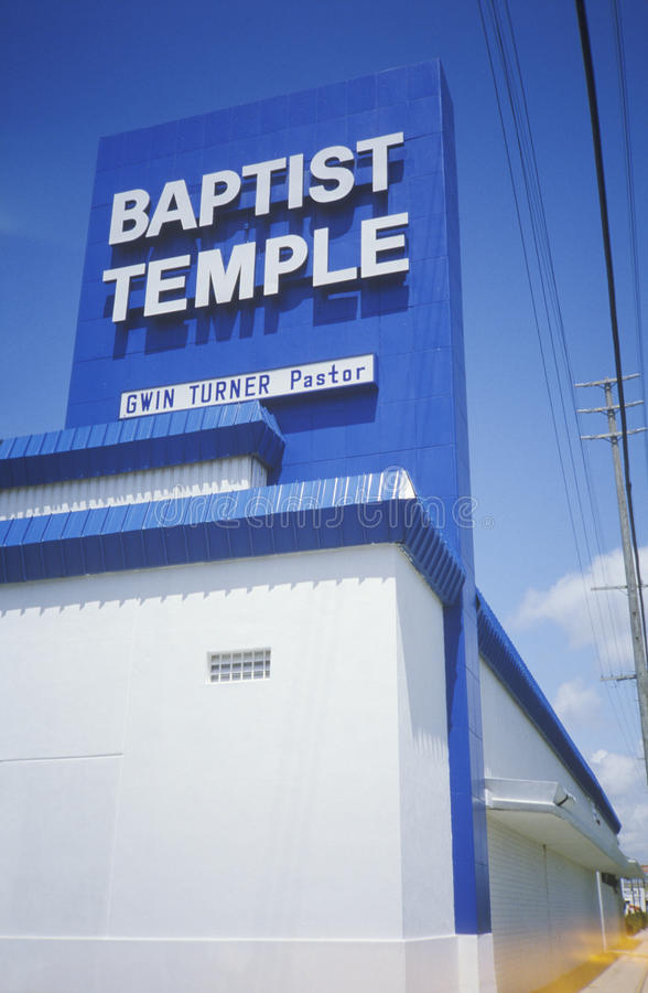 The Baptist Temple in Culver City California royalty free stock images