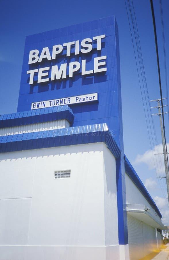 Baptist Temple i den Culver staden Kalifornien royaltyfria bilder