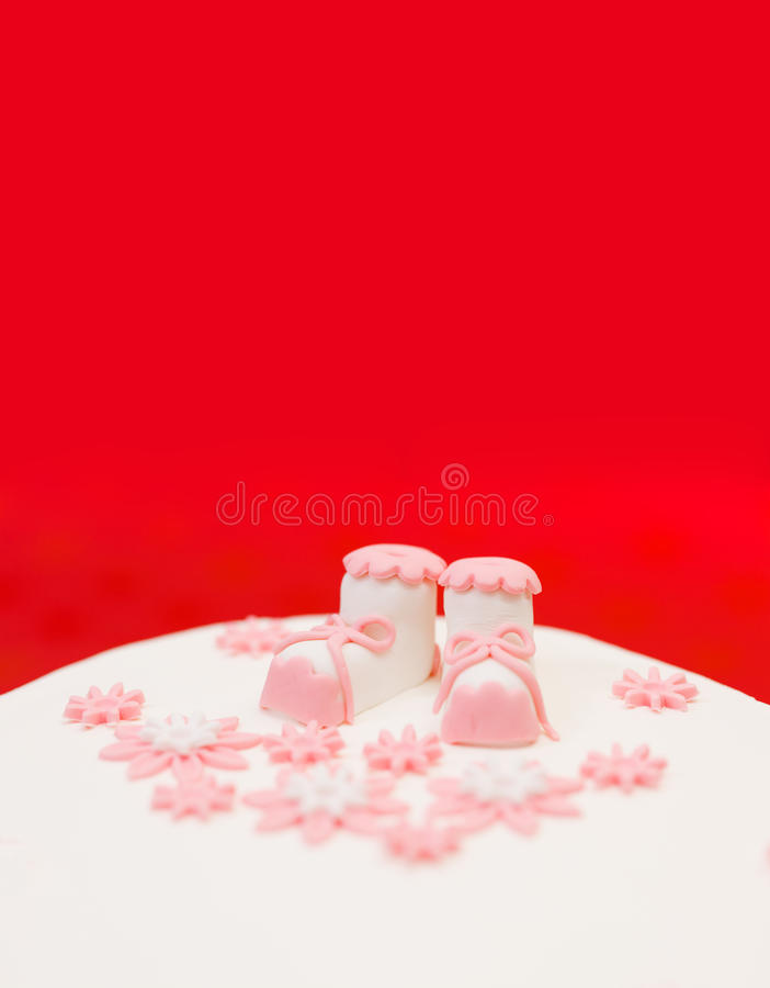 Baptist Topper On White Cake Royalty Free Stock Image
