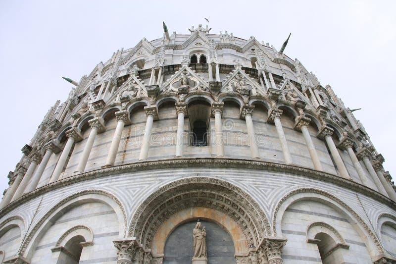 Baptisterio de Pisa fotos de archivo