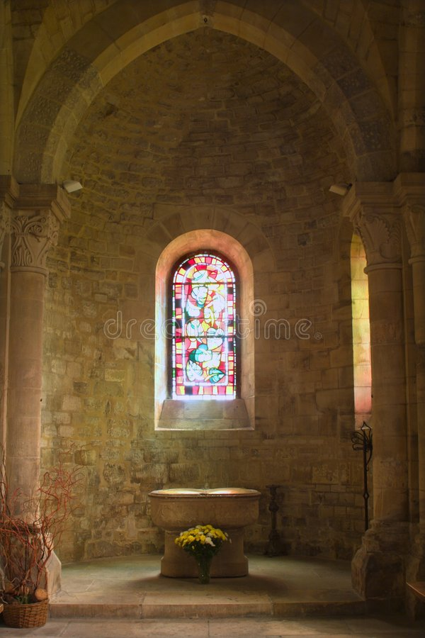 Baptisterium of st. Peters church in Paris royalty free stock photography