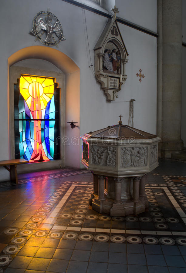 Baptisterium from Vienna church stock image