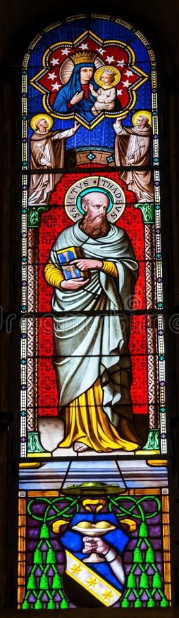 Baptistery Cathedr de Thadeus Jude Apostle Mary Stained Glass de Saint fotos de stock royalty free