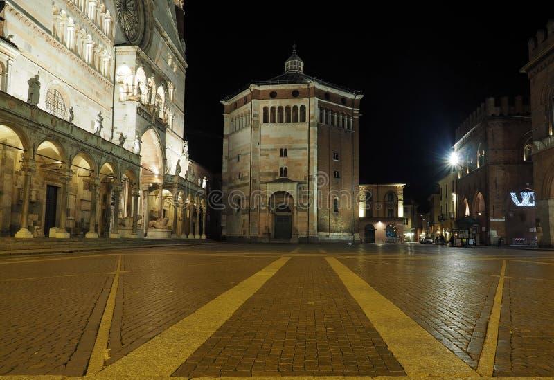 Baptistery Cremona kopuła zdjęcie stock