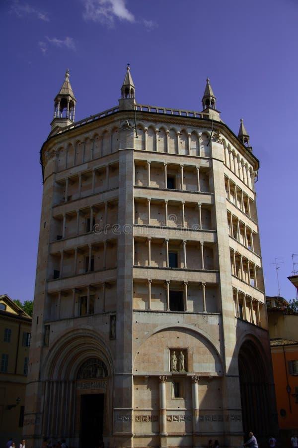 baptistery de Parma fotos de stock