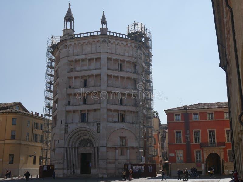 Baptistery de Parma fotos de stock royalty free