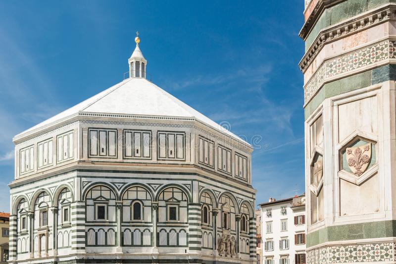 Baptistery de St John Floren?a, Italy fotos de stock royalty free