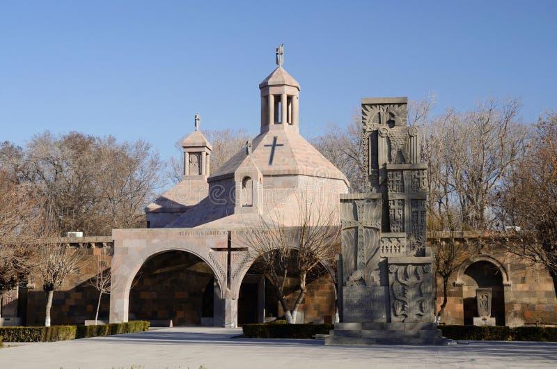 Baptistery de Vartan de Saint na igreja Etchmiadzin, Armênia imagens de stock