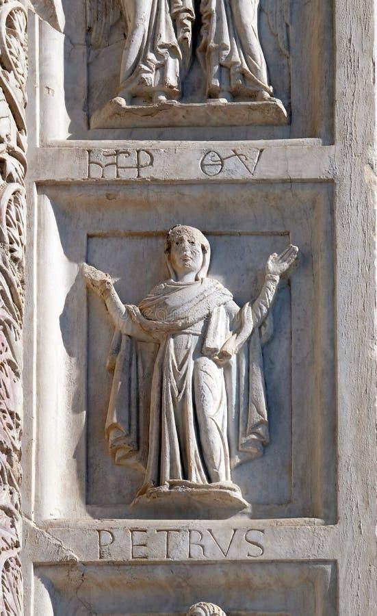 Baptistery dekoraci architraw wysklepia, katedra w Pisa, Włochy obrazy stock