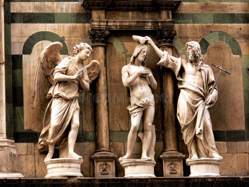 Baptistery - Florence Italië royalty-vrije stock foto