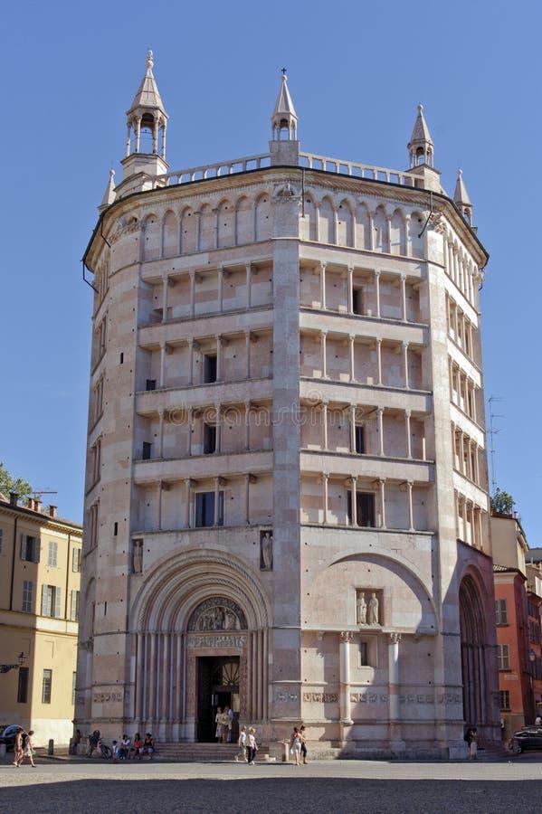 Baptistery in Parma. Emilia-Romagna Italy royalty free stock photo