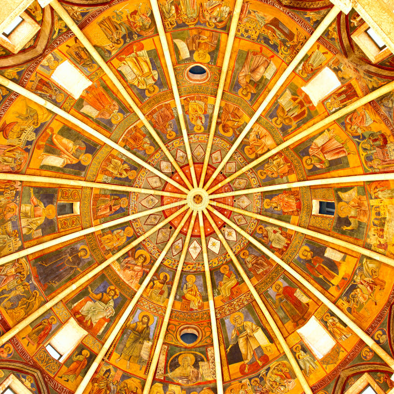Baptistery of Parma royalty free stock photography