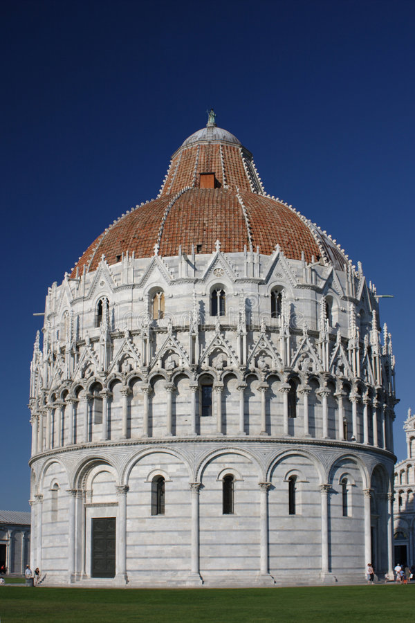 Baptistery at Pisa stock photography