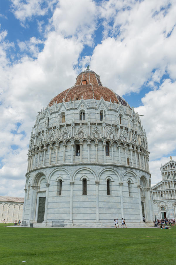 Baptistery in Pisa royalty-vrije stock fotografie