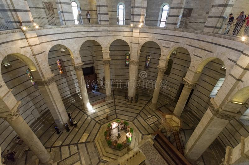 Baptistery of Pisa royalty free stock image