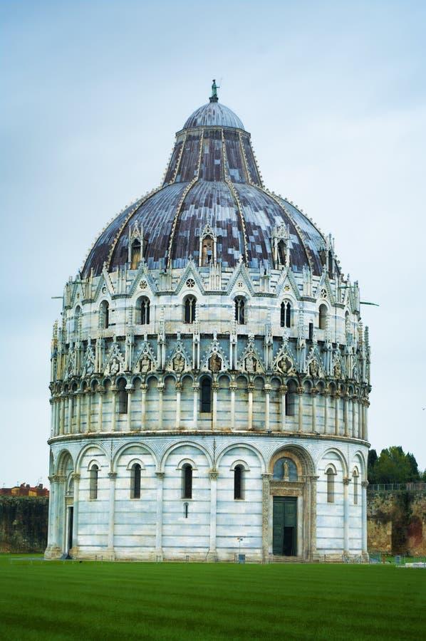 The baptistery in Pisa, Italy. The baptistery in Piazza dei Miracoli Pisa, Tuscany, Italy stock photo