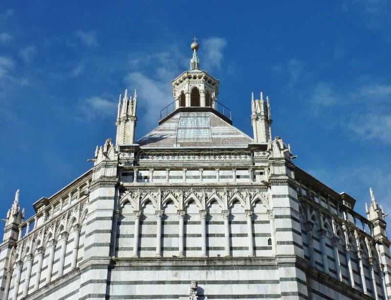 Baptistery in Pistoia royalty free stock photo