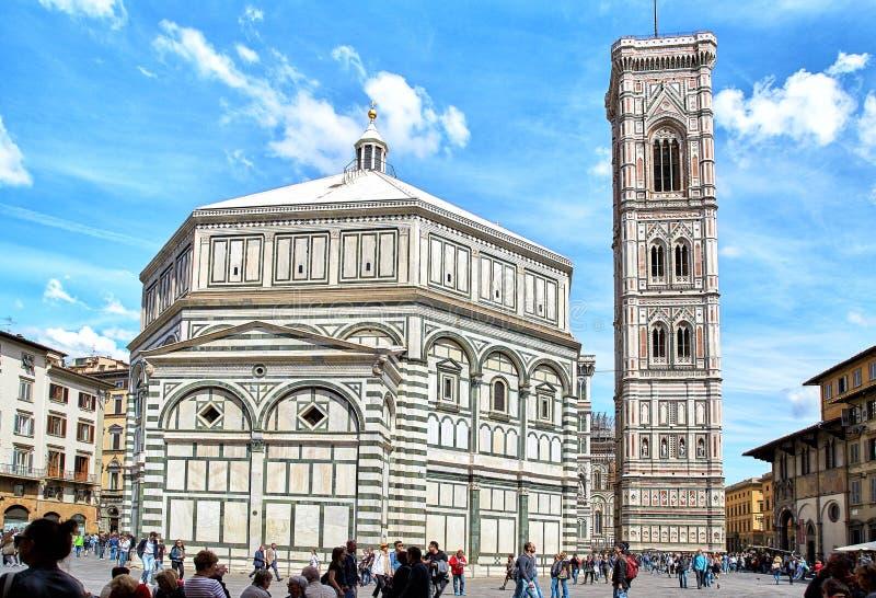 Baptistery St johnBattistero Di San Giovanni, Florencja obraz stock