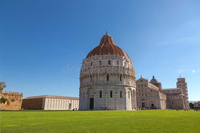 Baptistery van Pisa van St John (Battistero Di San Giovanni), Romein royalty-vrije stock afbeeldingen