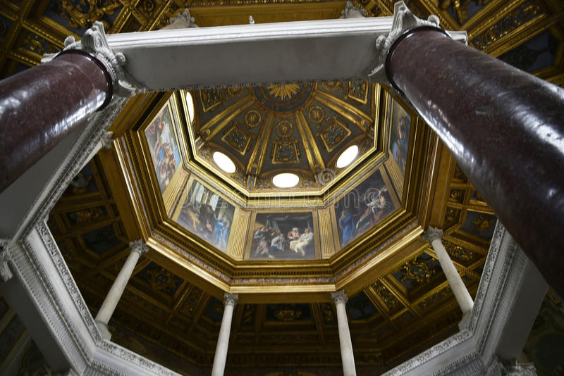 The baptistry in the Basilica of St John Lateran in Rome Italy royalty free stock photos
