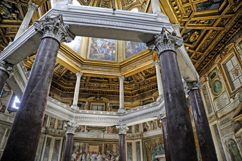 The baptistry of the St John Lateran Basilica in Rome Italy stock image