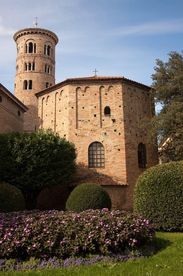 baptysterium Italy neon Ravenna zdjęcia royalty free