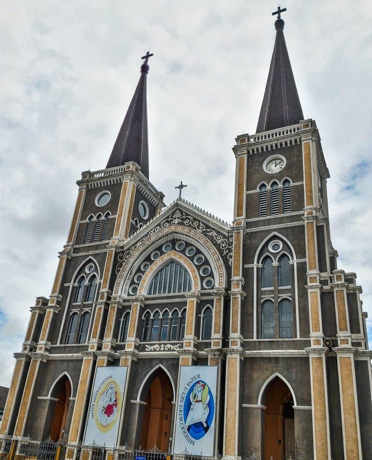 Baptystyczny kościół katolicki oficjalnie wyznacza jako jeden malujący kościół w Thailand zdjęcie royalty free